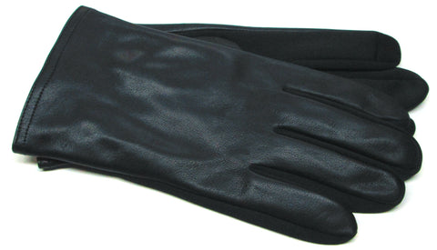 Men's Glace Leather and Softshell Gloves with Poly Tricot Lining and Touch Technology - M7833