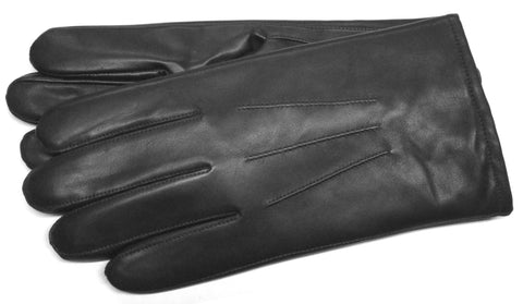 Men's Glace Leather Gloves with Rabbit Fur Lining