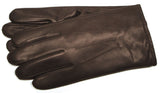Men's Glacé Leather Gloves with Rabbit Fur Lining - G7844