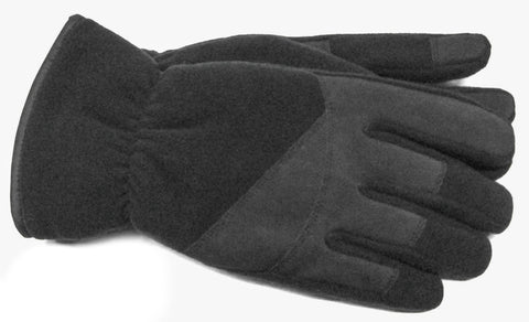 Men's Microfleece and PU Gloves with Fleece Lining, ThinsulateTM Insulation and Touch Technology - M7869
