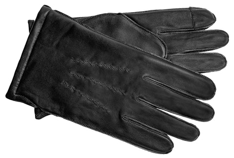 Men's Glace Leather Gloves with 100% Cashmere Lining and Touch Technology - M7893