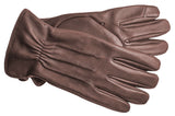 Men's Deerskin Gloves with Brushed Polyester Lining and Touch Technology - M7894