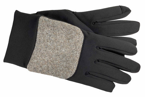 Men's Softshell and Heathered Fabric Gloves with ThinsulateTM Insulation, Poly Tricot Lining and Touch Technology - M9014