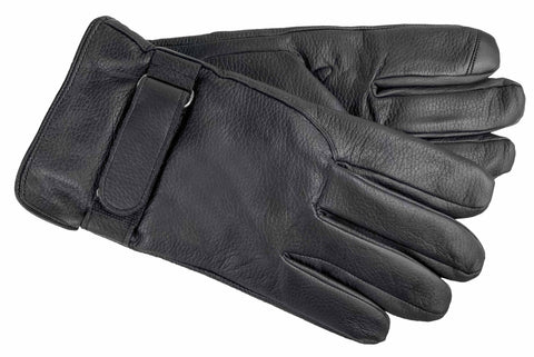 Men's Embossed Leather Gloves with ThinsulateTM Insulation, Fleece Linng and Touch Technology - M9016