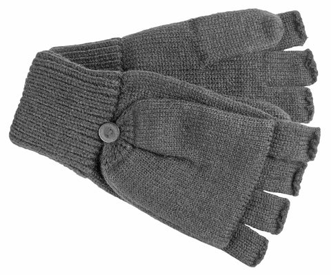 Men's Acrylic Blend Flip Top Mittens with Button Closure - M9024