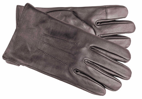 Men's Glace Leather Gloves with Cashmere Blend Lining and Touch Technology - M9068