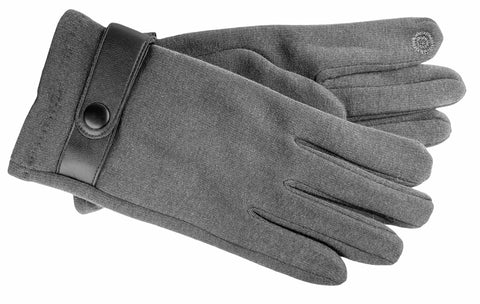 Men's Self Lined Fashion Fleece Gloves with Touch Technology - M9080