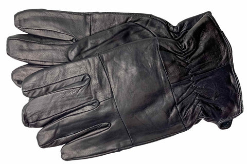 Men's Glace Leather Gloves with Brushed Polyester Lining - M9099