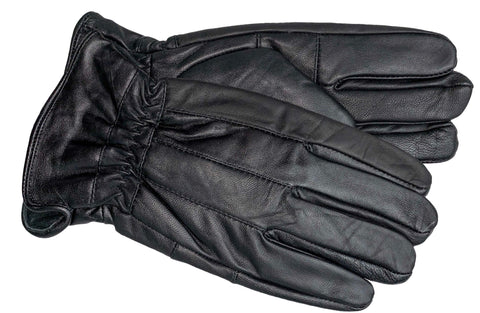 Men's Glace Leather Gloves with Brushed Polyester Lining - M9101