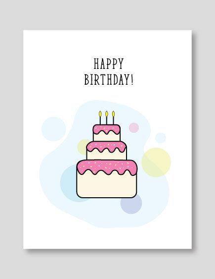 Strange Happy Birthday Cake Blank Card Magic Bean Cards Funny Birthday Cards Online Fluifree Goldxyz