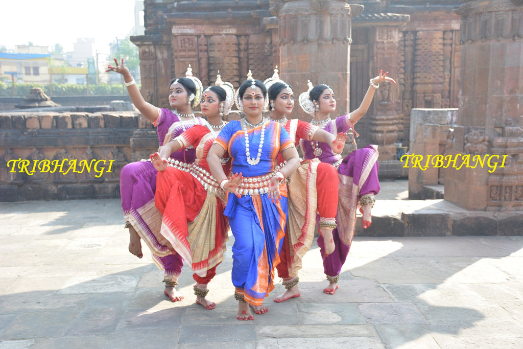 Odissi Dance/ Basic Practice/ Tribhangi 1 to 5/ Part-1 by Roji Swain, Bichitra Behera and Sanjeev Kumar Jena
