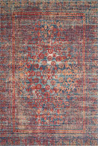 Nour Rug - Red/Navy