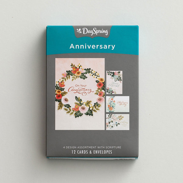 Anniversary - Celebrating Your Anniversary - 12 Boxed Cards, KJV