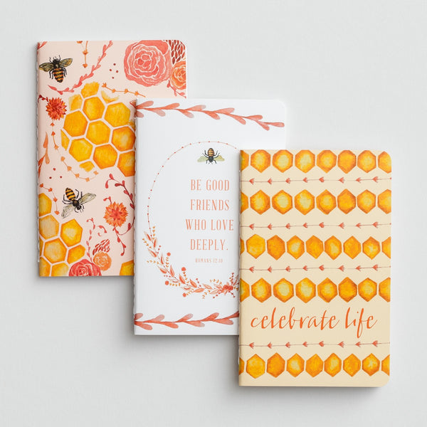 Bee Good Friends Notebook, Set of 3