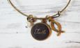 Faith Leather Charm Bracelet