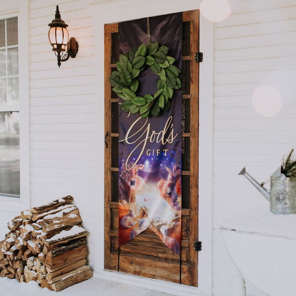 God's Gift Christmas Door Banner