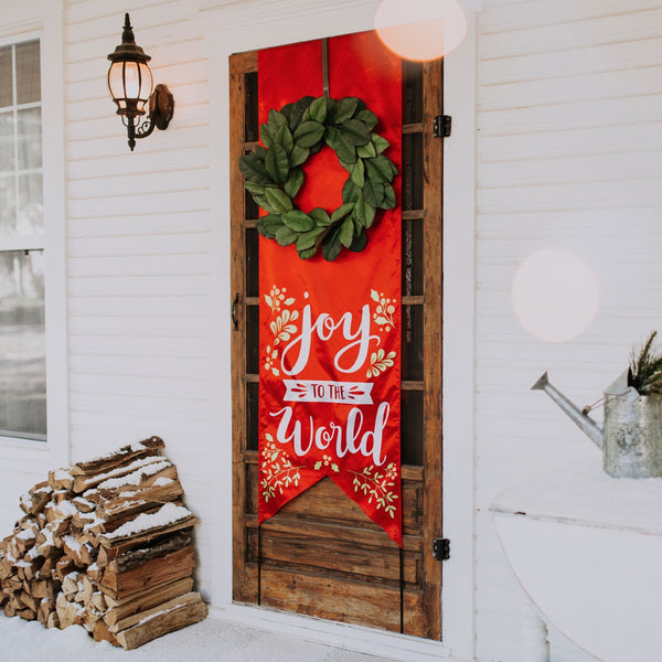 Joy to the World Christmas Door Banner