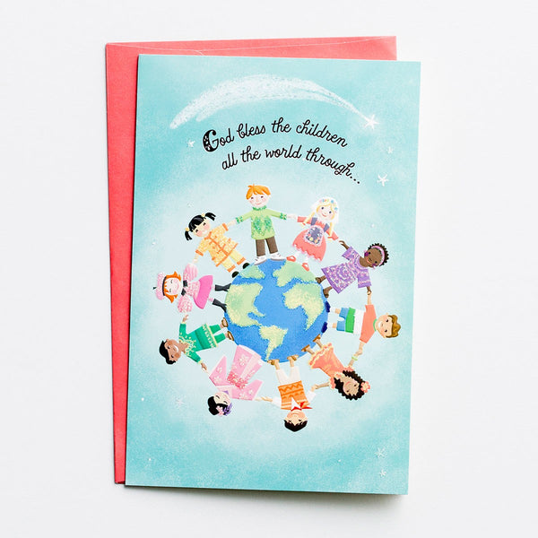 Operation Christmas Child - God Bless the Children - 18 Premium Christmas Boxed Cards