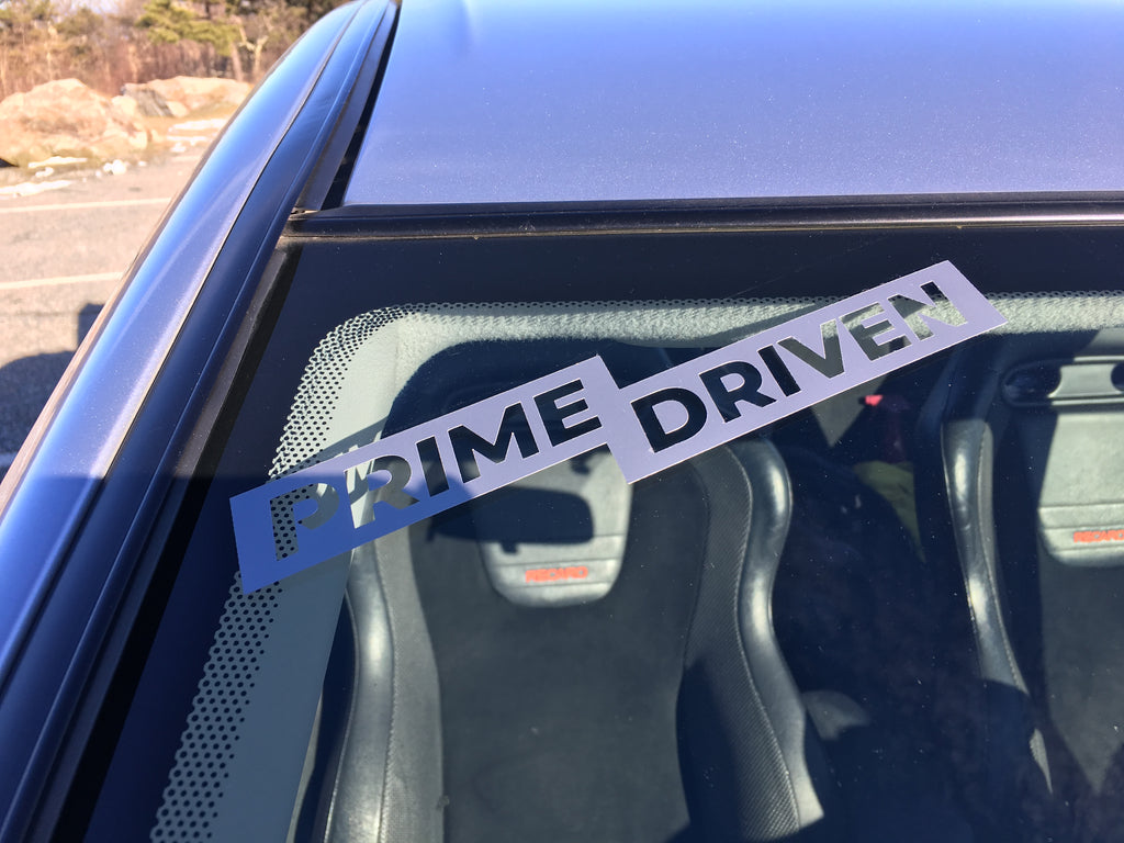 PRIME DRIVEN die cut Sticker