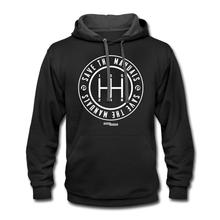 Save The Manuals Hoodie - black/asphalt