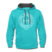 Save The Manuals Hoodie - scuba blue/asphalt