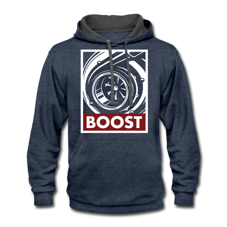 Obey Boost Hoodie - indigo heather/asphalt