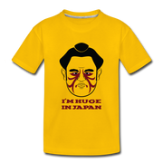 Huge Sumo Kids Shirt - sun yellow