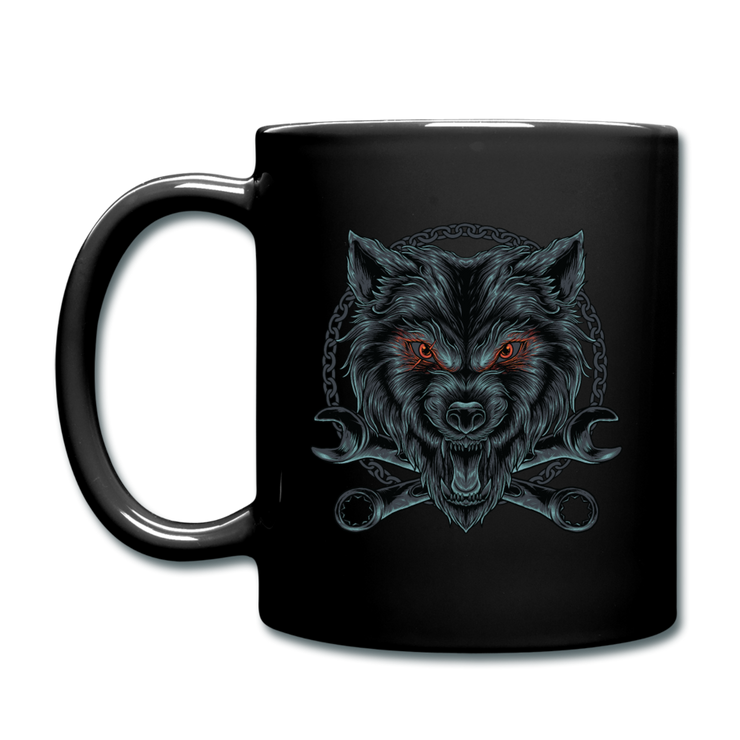 Wrench Wolf Mug - black
