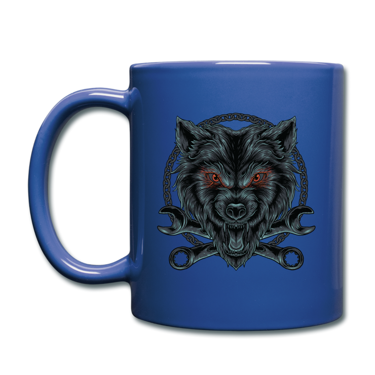 Wrench Wolf Mug - royal blue