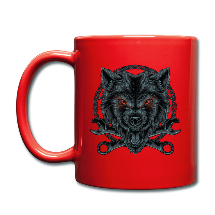 Wrench Wolf Mug - red
