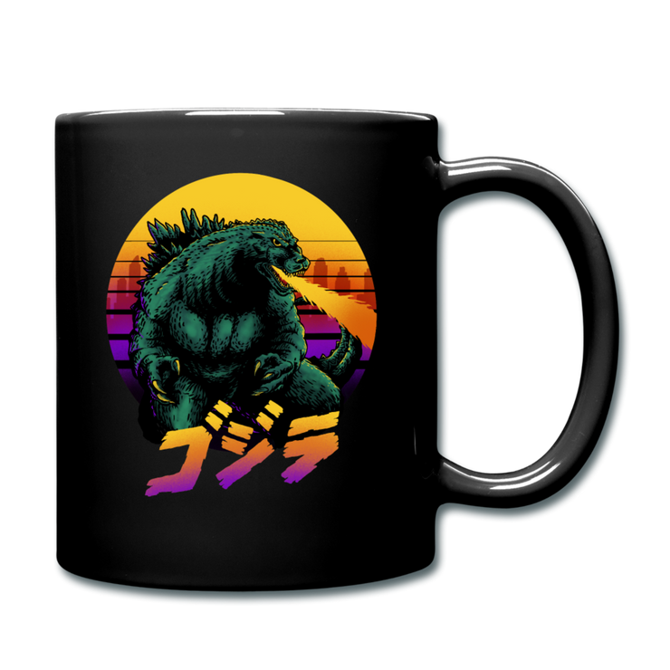 Retrowave Gojira Mug - black