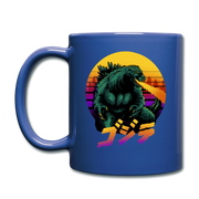 Retrowave Gojira Mug - royal blue