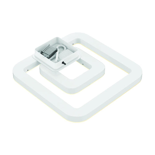 Bright White - Indoor Square Ceiling Lights - 45W - 3000K-6500K - 2250LM - Dimmable - Simple Close to Ceiling Fixtures - 2- Square Shape