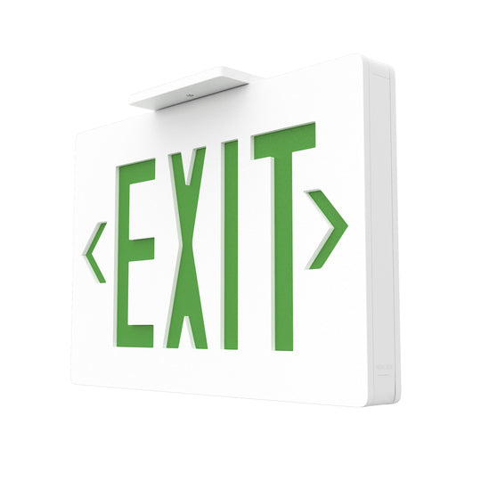 4W Green LED Exit Sign, Double Sided, UL,CUL Listed, 90 min Backup Battery