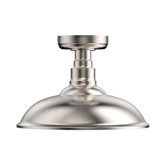 Industrial, Semi Flush Mount, Close to Ceiling Lights, Brushed Nickel, E26 Base, UL Listed, 3 Years Warranty