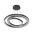 Load image into Gallery viewer, 3-Ring LED Light Circular Chandelier - 102W - 3000K - 4335LM - Matte Black Body Finish - Dimmable - Pendant Mounting