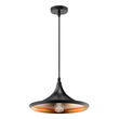 Load image into Gallery viewer, Modern Black hanging light fixture, Trumpet-Shaped, E26 Base, Steel Body, UL Listed