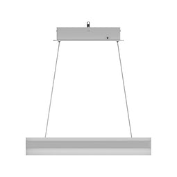 Modern Rectangular LED Chandelier - 87W - 3000K-6500K (CCT-Changeable) - 4350LM - Dimmable - Sand Silver Body Finish - 3 Year Warranty