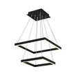 Load image into Gallery viewer, Modern Two-Tier Square Chandelier Lighting - 54W - 3000K - 3016LM - Dimension : 19.7''L×19.7''W×55''H