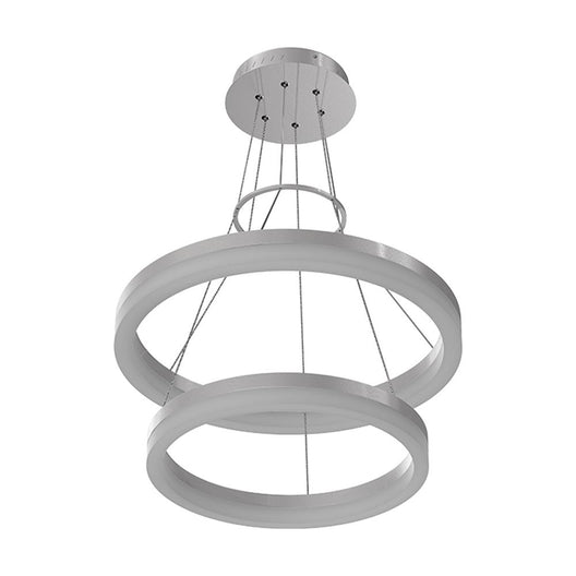 2-Ring, Led Ring Chandelier, 78W, 120V, 3000K, 3985LM, Dimmable