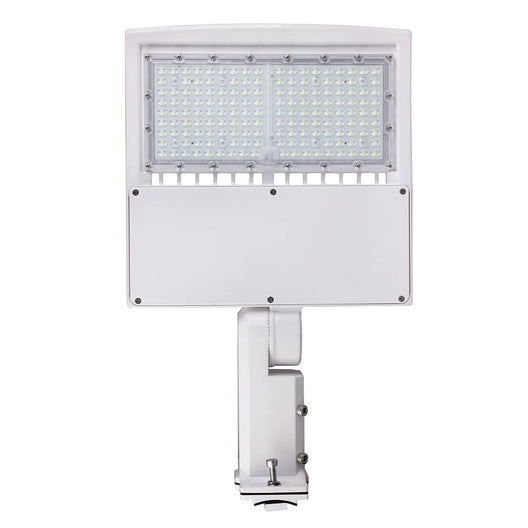 150W LED Pole Light with Photocell; 5700K ; Universal Mount ; White ; AC100-277V