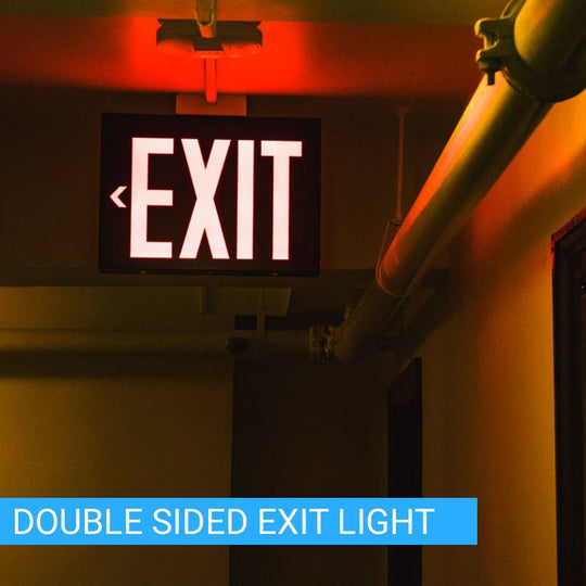 LED Emergency Exit Sign;Side and Ceiling Mount