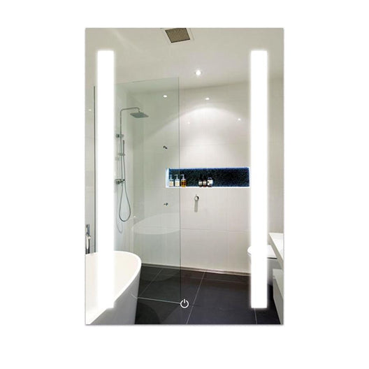 LED Bathroom Lighted Mirror 24 X 36 Inch, Lighted Vanity Mirror Includes Defogger & Dimmer, Vertical Mirror Light