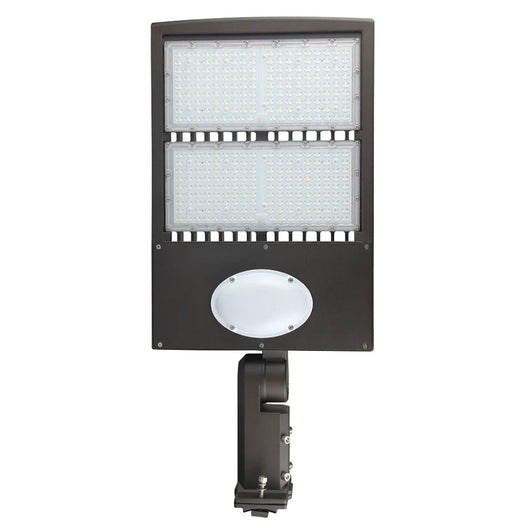 300W Commercial Parking Lot Lights  With Photocell & Motion Sensor, 5700K, Universal Mount, Bronze, AC100-277V, Led Street Light