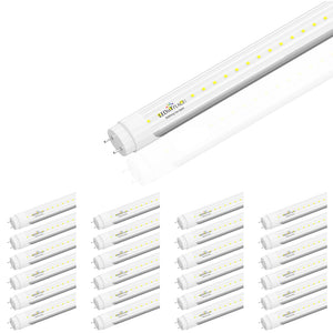 Ballast Compatible T8 2ft 8W LED Tube; 5000K Clear