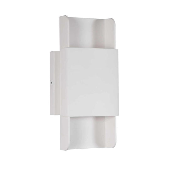 Modern LED Wall Sconce Lighting Fixture, 11W, 3000K, Dimmable, Body Finish Matte Black / Sand White