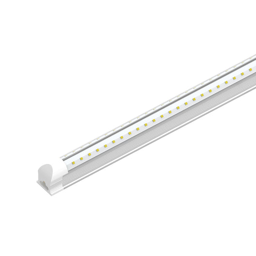 T8 4ft V Shape LED Tube 30W Integrated 6500K Clear, 3900 Lumens, No Ballast Required, LED Shop Lights - Garage Lighting