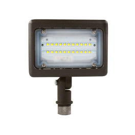 15W Knuckle Mount LED Flood Light, 55 Watt Replacement, 1730 Lumens, 5700 Kelvin, Bronze