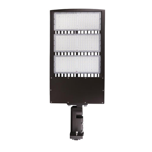 450W Outdoor LED Shoebox Parking Lot Lighting With Photocell, 5700K, AC100-277V, Universal Mount Bronze, With 20KV Surge Protector
