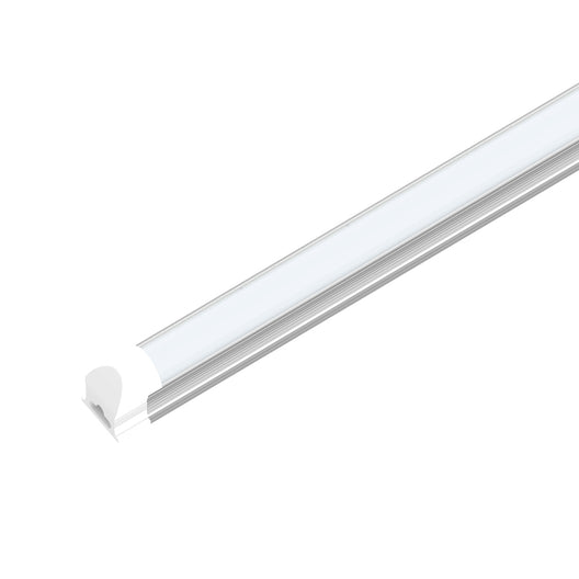 60 Watt LED Integrated Tube, T8 8 Feet - V Shaped, 210W Equivalent, 5000K Frosted, Linkable - Extendable Design - Basement Lighting